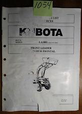 Kubota LA1001 Front Loader S/N 20,000- Illustrated Parts List Manual 3/98