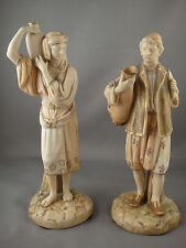 Royal Worcester Pair Of Water Carrier Figurines c. 1889