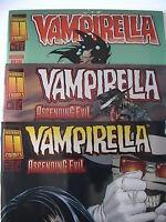 VAMPIRELLA Ascending Evil 1 2 3 von 3 komplett ( Splitter, Buchhandelsausg ) Neu