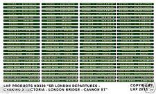 SR  LONDON DEPARTURE COACH BOARDS - VICTORIA, LONDON BRIDGE ETC LHP HD320