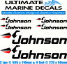 Johnson Fishing Boat Sticker Decal Marine Set of 6