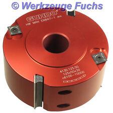 GUHDO HW (HM) WPL Falzkopf 125x50mm ALU Fügefräser Falzmesserkopf Falzfräser