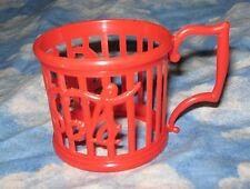 DRINK COCA-COLA RED PLASTIC BELL GLASS HOLDER