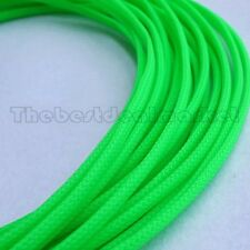 3mm High Density Expandable Braided PET Premium Cable Sleeve 3 Ft USA UV Green
