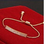 Women's Unique CZ Rhinestone Micro Pave Gold Plated Bracelet Jewellery Gift UK