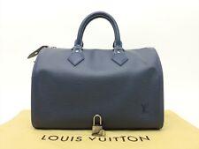 Louis Vuitton Authentic Epi Leather Myrtille speedy 25 Purse Hand Bag Auth LV