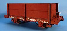 ON3/ON30 SILVER CITY MODELS D&RGW 1872 14' 4 WHEEL GONDOLA CAR KIT