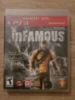 inFamous (Sony PlayStation 3, 2009) PS3 Tested Complete CIB Greatest Hits