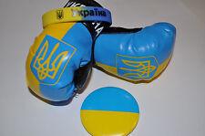 3 Ukraine Ukrainian Flag Souvenirs Set Car Gloves Bracelet Pin Україна Тризуб
