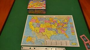 Milton Bradley/Hasbro-Puzzle Map Of United States- Pieces Shaped As States-MINT