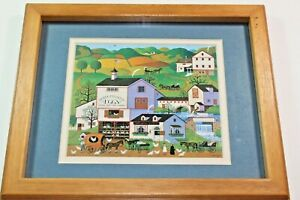 Charles Wysocki Virginia's Nest Chicken Farm Vintage Signed Art Print Picture