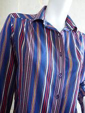 Chemisier Vintage à Rayures Pier Bé T. M - VTG Striped Blouse Pier Bé Siz. M