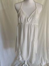 White Cotton Lace Racerback Lingerie Nightgown Size L Apt. 9