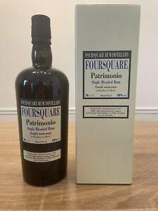 Foursquare Patrimonio Single Blended Rum Velier