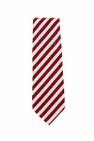 Finamore Napoli Red Striped Silk Tie - x - (1287)