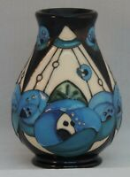 Moorcroft Rennie Rose Blue Vase - designed by Rachel Bishop