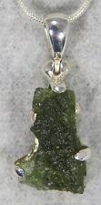 MOLDAVITE PENDANT $69 Tektite Sterling Silver Jewelry STARBORN CREATIONS MP69-R1