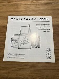 Hasselblad 503Cxi -  Complementary Instruction Manual In good condition