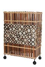 Originelle Tischlampe Nachttischlampe Asien Handarbeit Bambus und Textil 30cm