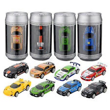 5x(Mini Coke Can RC Radio Remote Control Micro Racing Car Gift ColorRandom R6Q2