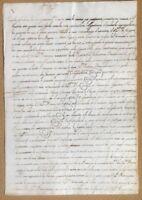 Antico documento manoscritto XVIII / XIX secolo - 4 facciate