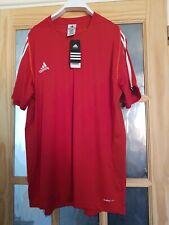 adidas Mens T12 red white Climacool Sport Polo Shirt Running Gym T Shirt Top xxl