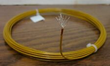25 feet 16 AWG Silver Plated Kapton Wire Yellow 19 strand