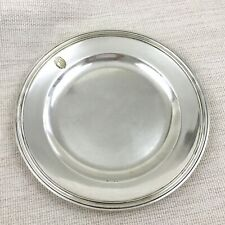 More details for christofle silver plated charger plate presentation tray armorial family crest