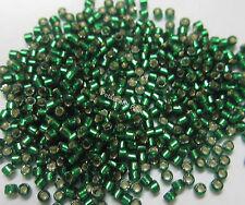 Maria George Miyuki Delica Seed Beads Bead Lined Christmas Green Beading DBR148