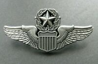 USAF AIR FORCE LARGE MASTER PILOT WINGS LAPEL PIN BADGE 2 INCHES