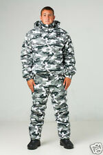 3XL Winter Russian Army Special Force Military Hunting Camo Camouflage Set Suit