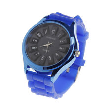 Unisex Men Women Jelly Watch Stylish Rubber Silicone Quartz Sports Watch