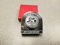 Vintage Master Rule Mfg. Clark Plastic Wall Tile Advertising Tape Measure USA