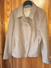 Ladies Coat Marks & Spencer Wool Blend Jacket Size 14 Dark Camel