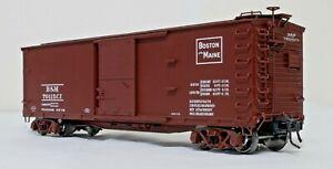 Atlas Double-Sheathed Wood Boxcar - Boston & Maine - O Scale, 2-rail.