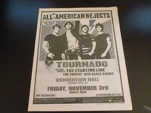 The All American Rejects 2006 Concert Poster Ad Asbury Park Convention Hall