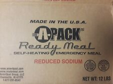 APACK MREs MRE Military Style Ready to Eat MEALS 12 pack CASE ~ PRODUCTION 2012