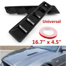 2X Race Car Hood Air Vent Louver Panel Trim Black ABS Carbon Pattern Black Matte