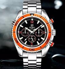 Piloto militar deportes mecánicos U.K. sekaro buzos Estilo Reloj Con Bisel De Naranja