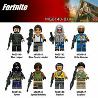 8 pcs Fortnite Games Mini Figures Weapons Blocks Toys party bag fillers