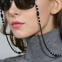 Eyeglass Chains Black Beads Chains Anti-slip Eyewear Cord Reading Glasses Rope