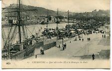 CPA - Carte Postale - France - Cherbourg - Quai Alexandre III et la Montagne du