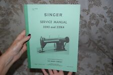 Factory Authorized Service Manual for Singer 331K1 and 331K4 Sewing Machines