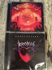 2CD Krokus - Rock The Block/ Heart Attack (brand new 2 separate cd set)