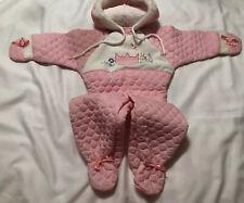 1970's Vintage Infant Pink Quilted Snowsuit