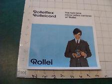 Original CAMERA Booklet: ROLLEIFLEX ROLLEICORD ROLLEI 1970, 12pgs worn edge