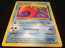 Pokemon Fossil Set Unlimited Edition UnCommon Card - Kingler 38/62 Mint