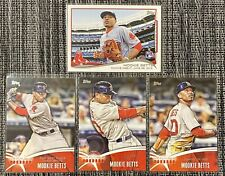 2014 Topps Update #US-301 Mookie Betts RC Rookie Debut & The Future Is Now x3 ⚾️