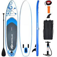 11' Inflatable Stand Up Paddle Board W/Carry Bag Adjustable Paddle Youth Adult