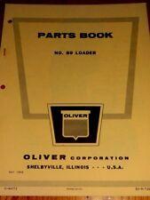 Oliver Parts Book No.89 Loader